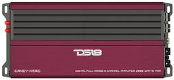 DS18 CANDY-X5RD Car Audio Red 2000 Watt 5 Channel Class D Amplifier Single
