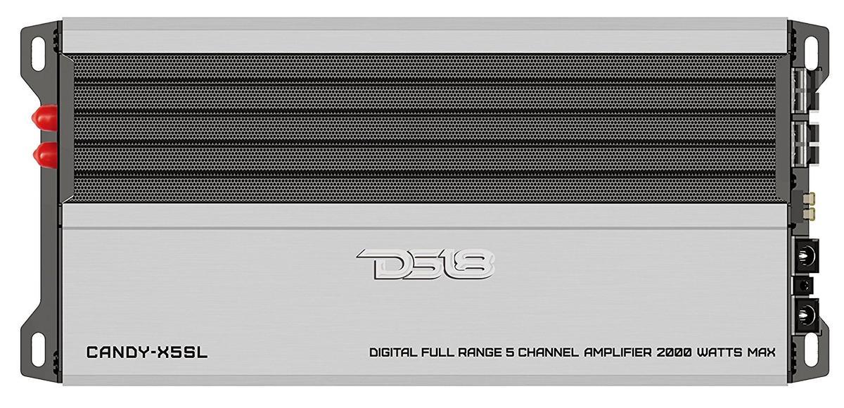 DS18 CANDY-X5SL Car Audio Silver 2000 Watt 5 Channel Class D Amplifier Single