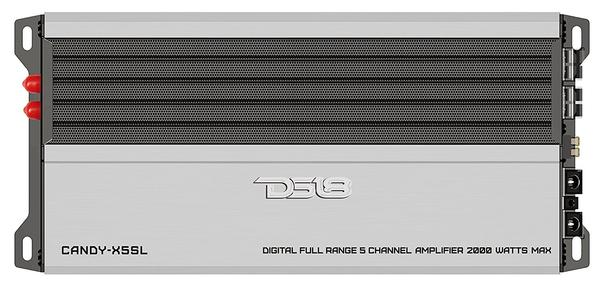 DS18 CANDY-X5SL Car Audio Silver 2000 Watt 5 Channel Class D Amplifier Single Thumbnail 1