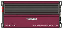 DS18 CANDY-XXL1RD Car Audio Red 3000 Watts Monoblock Class D Amplifier Single