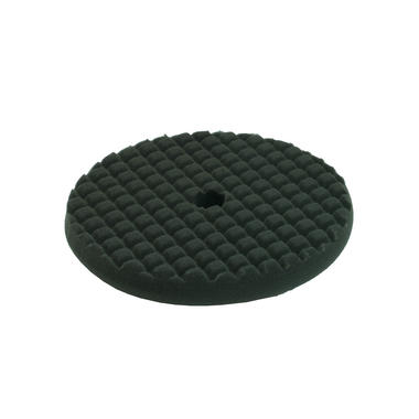 Car Cleaning 200mm Soft Black Waffle Polishing Cutting Detailing Mop Head Thumbnail 1