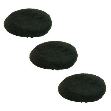 Car Cleaning 200mm Black Soft Lambs Wool Polishing Buffing Detailing Mop Head x 3 Thumbnail 1