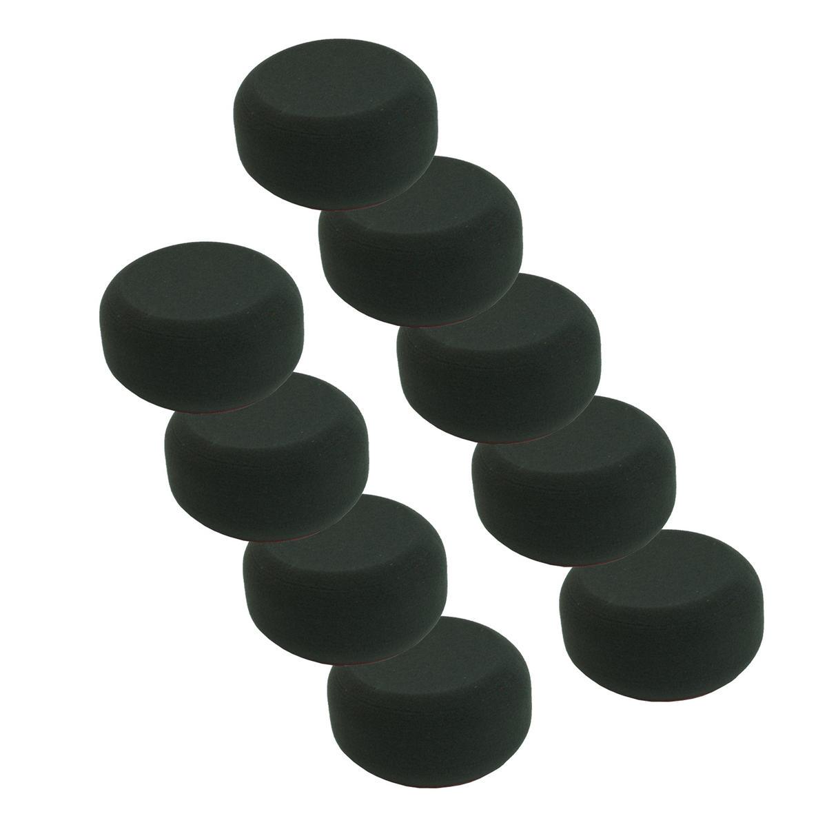 Car Cleaning 90mm Black Soft Velcro Polishing Cutting Detailing Mop Head x 9