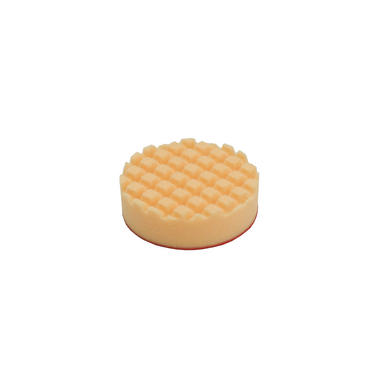 Car Cleaning 90mm Hard Orange Waffle Polishing Cutting Detailing Mop Head x 3 Thumbnail 2