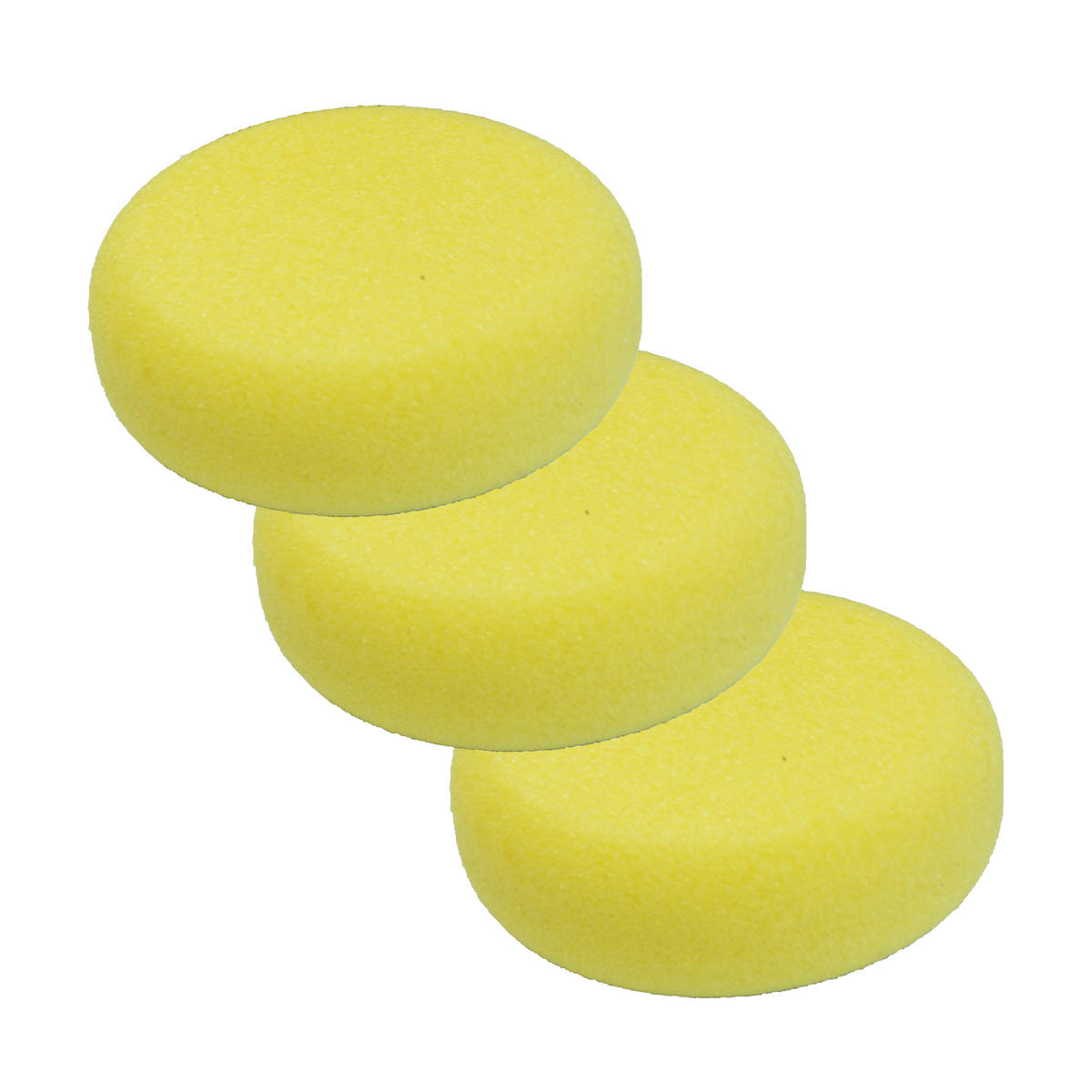 Car Cleaning 150mm Hard Yellow With Screw Polishing Cutting Detailing Mop Head x 3
