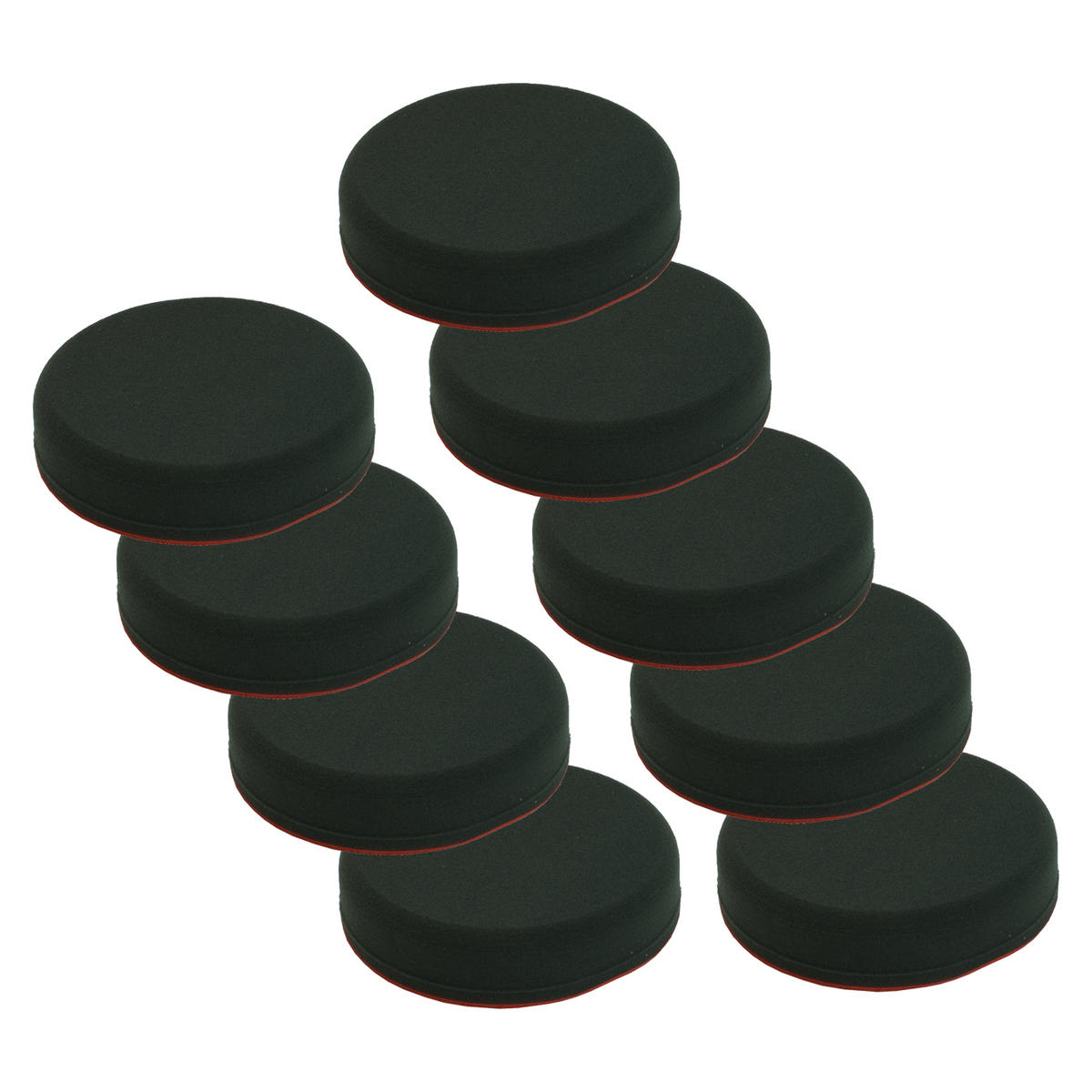 Car Cleaning 130mm Soft Black Velcro Polishing Cutting Detailing Mop Head x 9