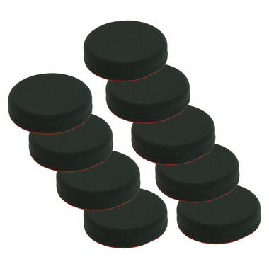 Car Cleaning 130mm Soft Black Velcro Polishing Cutting Detailing Mop Head x 9 Thumbnail 1