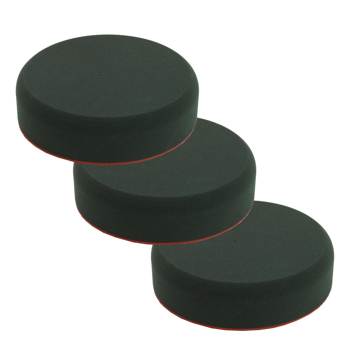Car Cleaning 200mm Soft Black Velcro Polishing Cutting Detailing Mop Head x 3