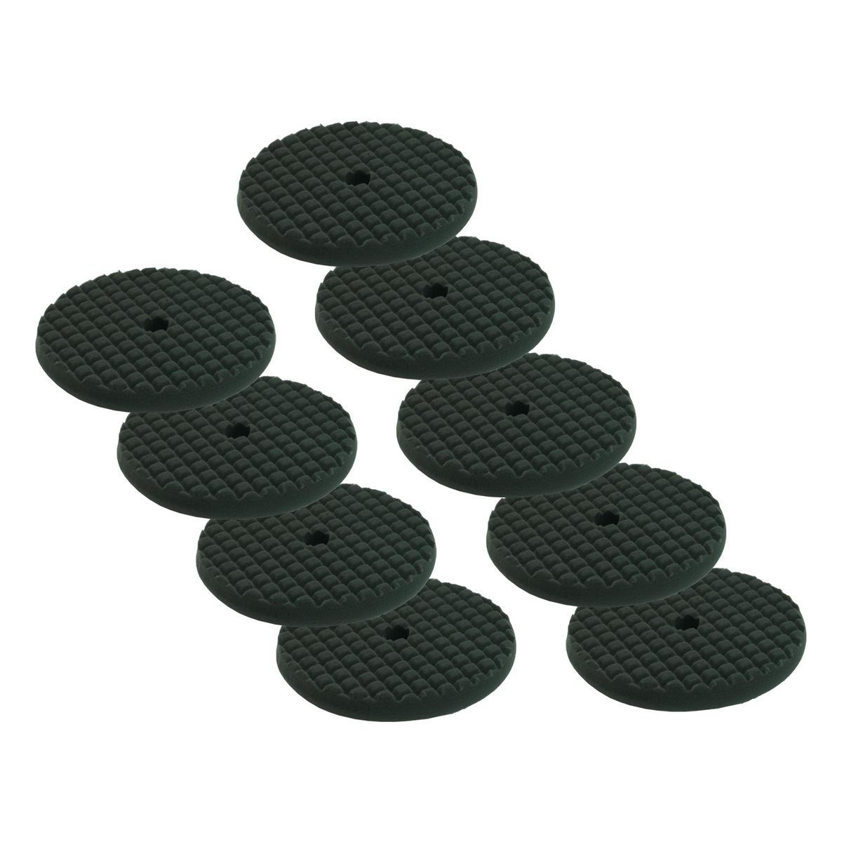 Car Cleaning 200mm Soft Black Waffle Polishing Cutting Detailing Mop Head x 9