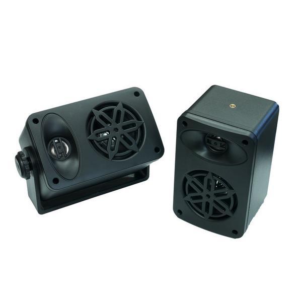 Bassface SPLBOX.4BK 200w Marine Boat Van Outdoor Box Speakers Pair Black Thumbnail 2