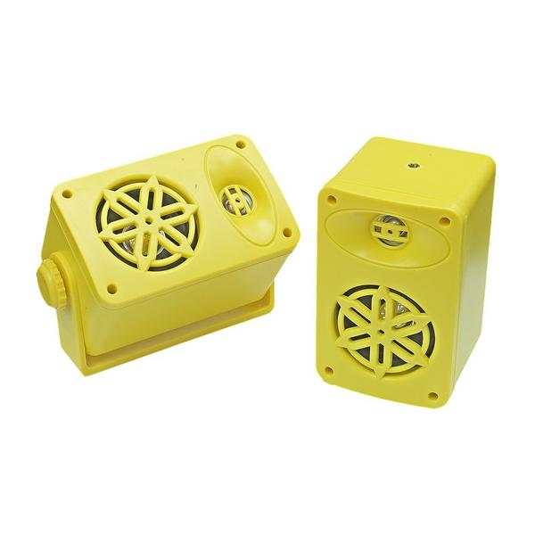 Bassface SPLBOX.4YL 200w Marine Boat Van Outdoor Box Speakers Pair Yellow Thumbnail 2