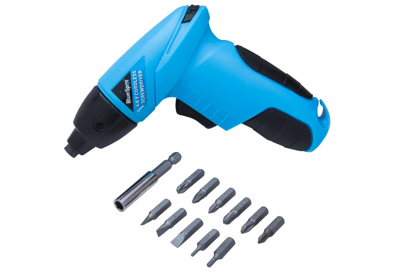 Bluespot 12066 4.8 V Cordless Screwdriver with 12 Piece bits