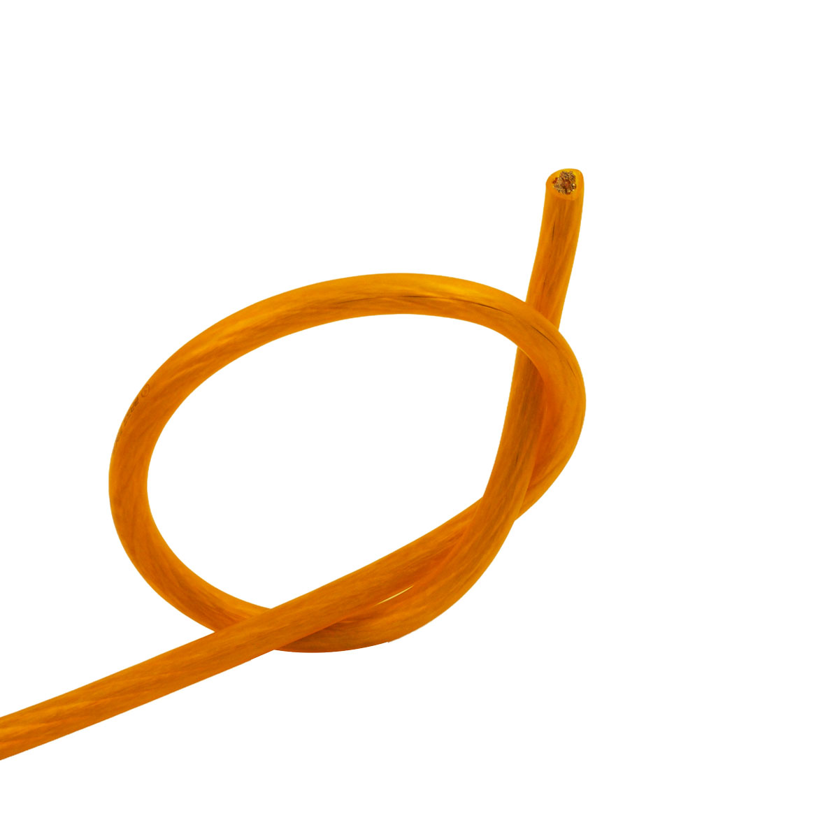 Bassface PWP8.1 1m 1 Meter CCA 8AWG 8.4mm Orange Power Cable 728 Strand