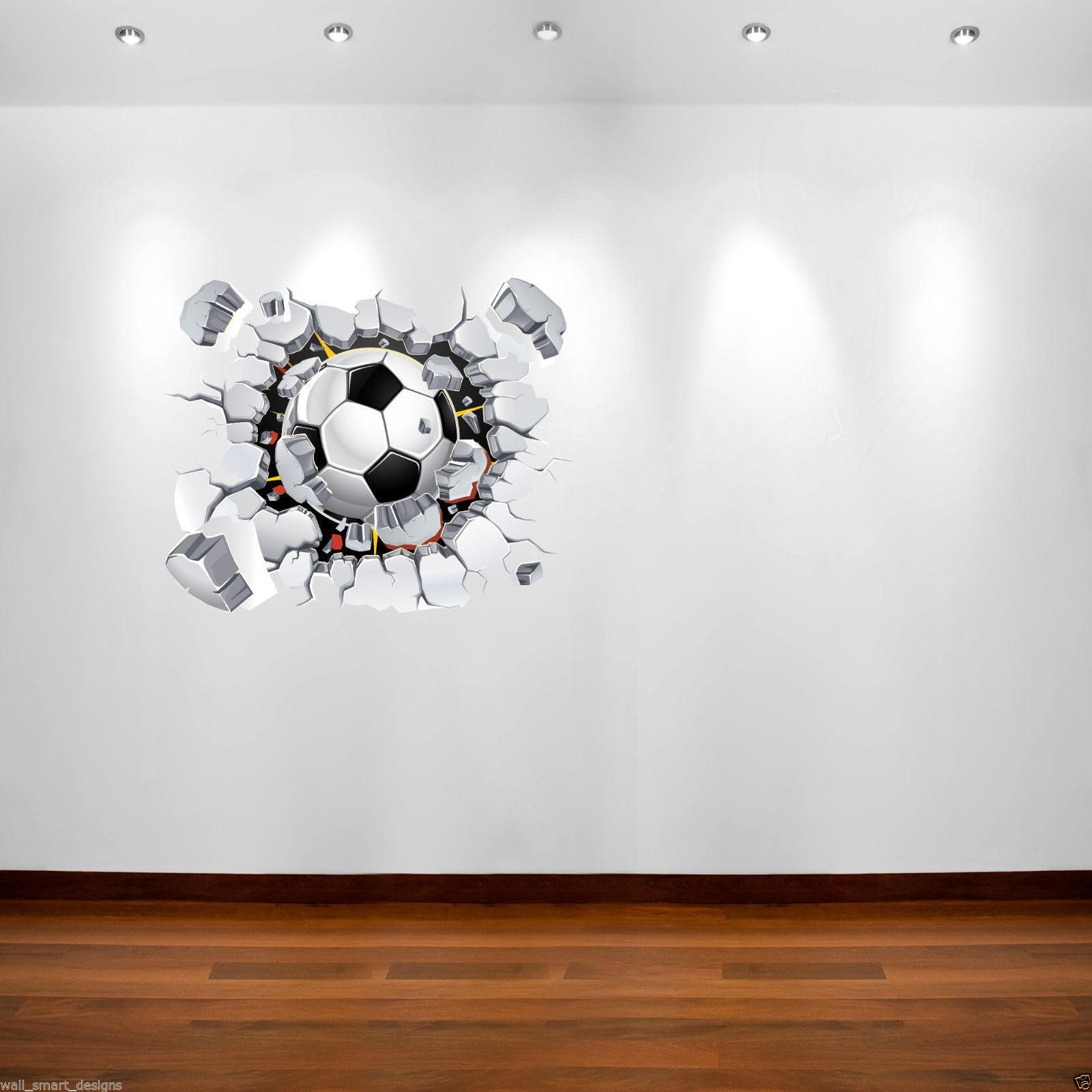 Thompsons Ltd | Football Full Colour Wall Art Sticker Mural Decal ...
