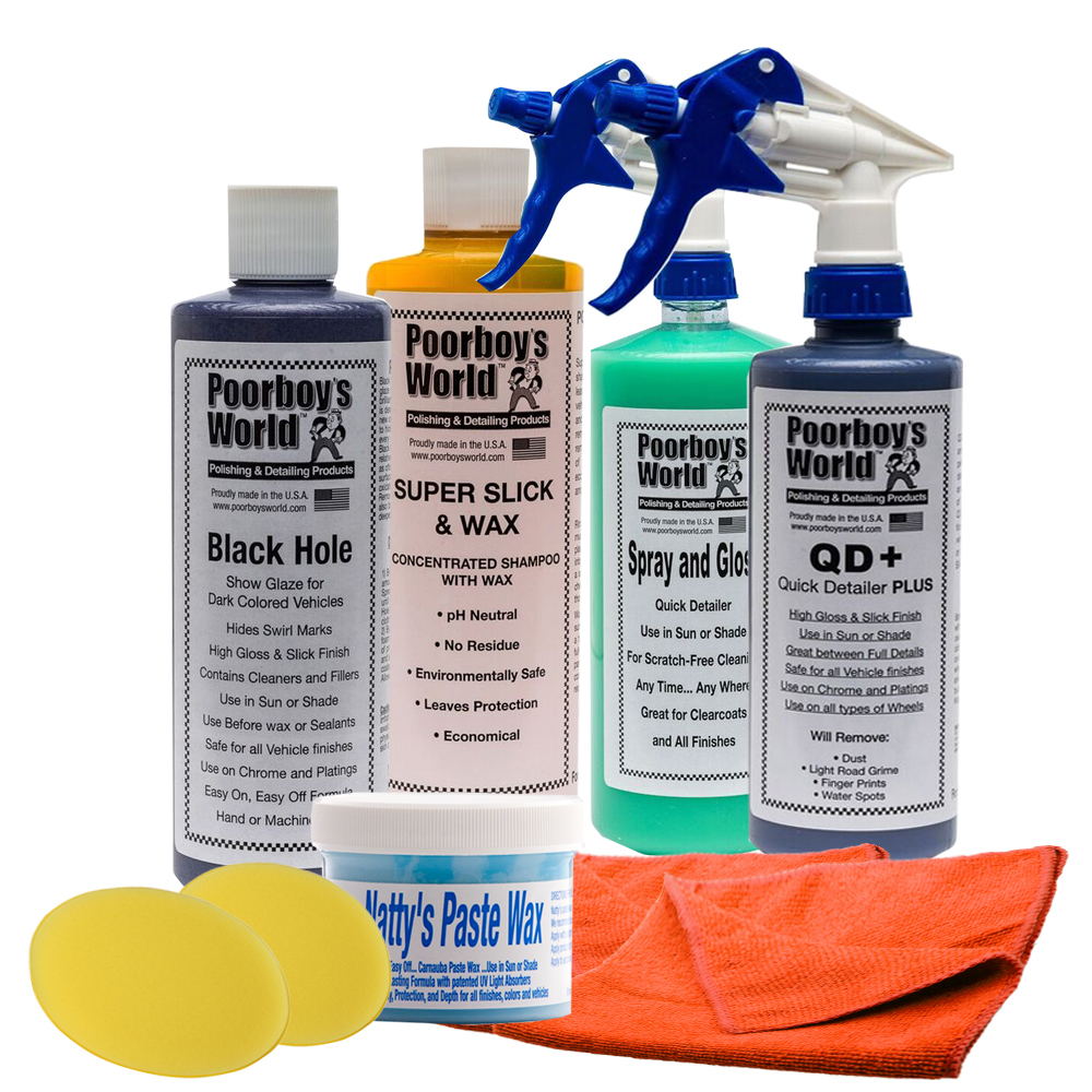 Poorboys Black Hole Complete Car Wash Detailing Waxing Package