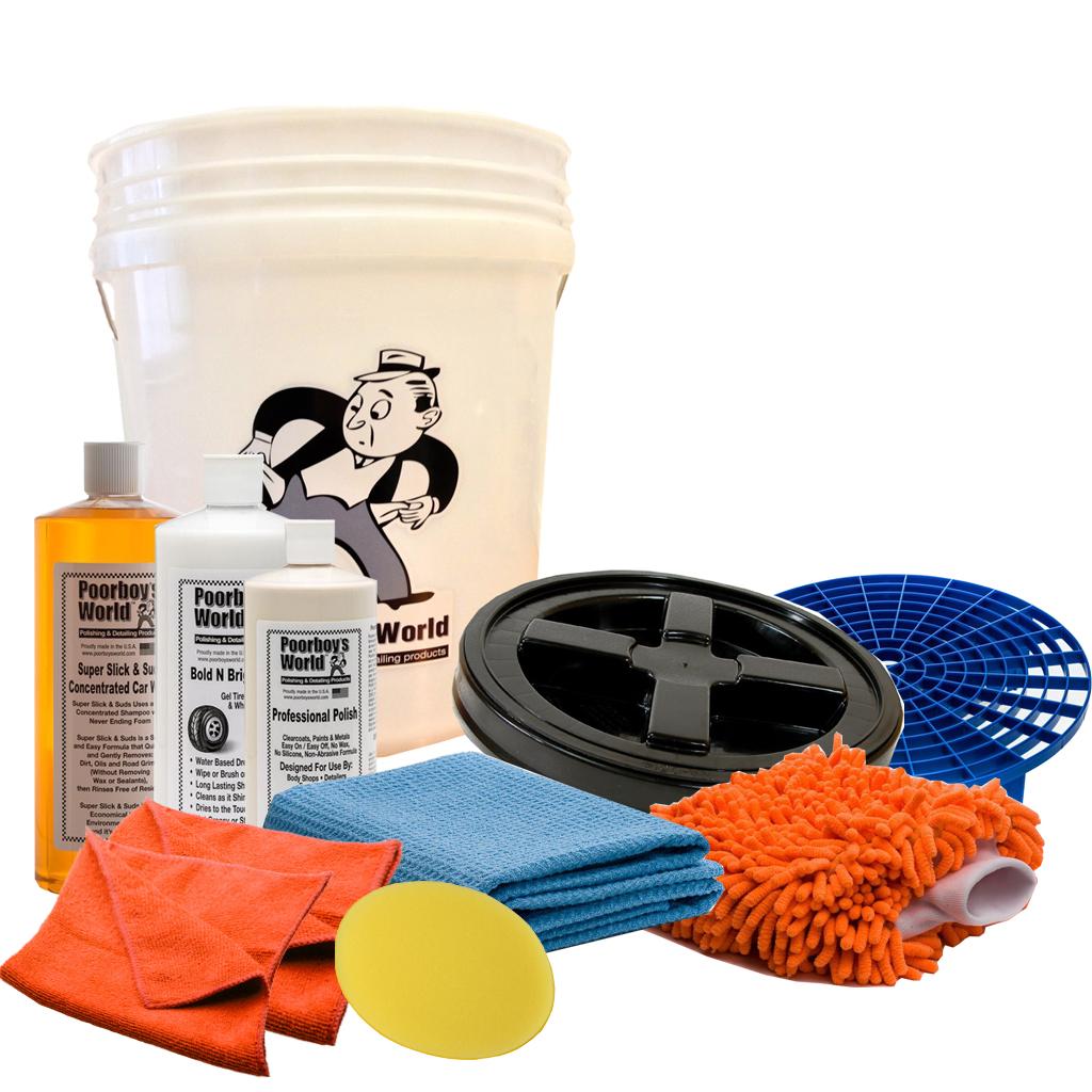 Poorboys Complete Ultimate Car Wash Detail Polishing Bucket Package