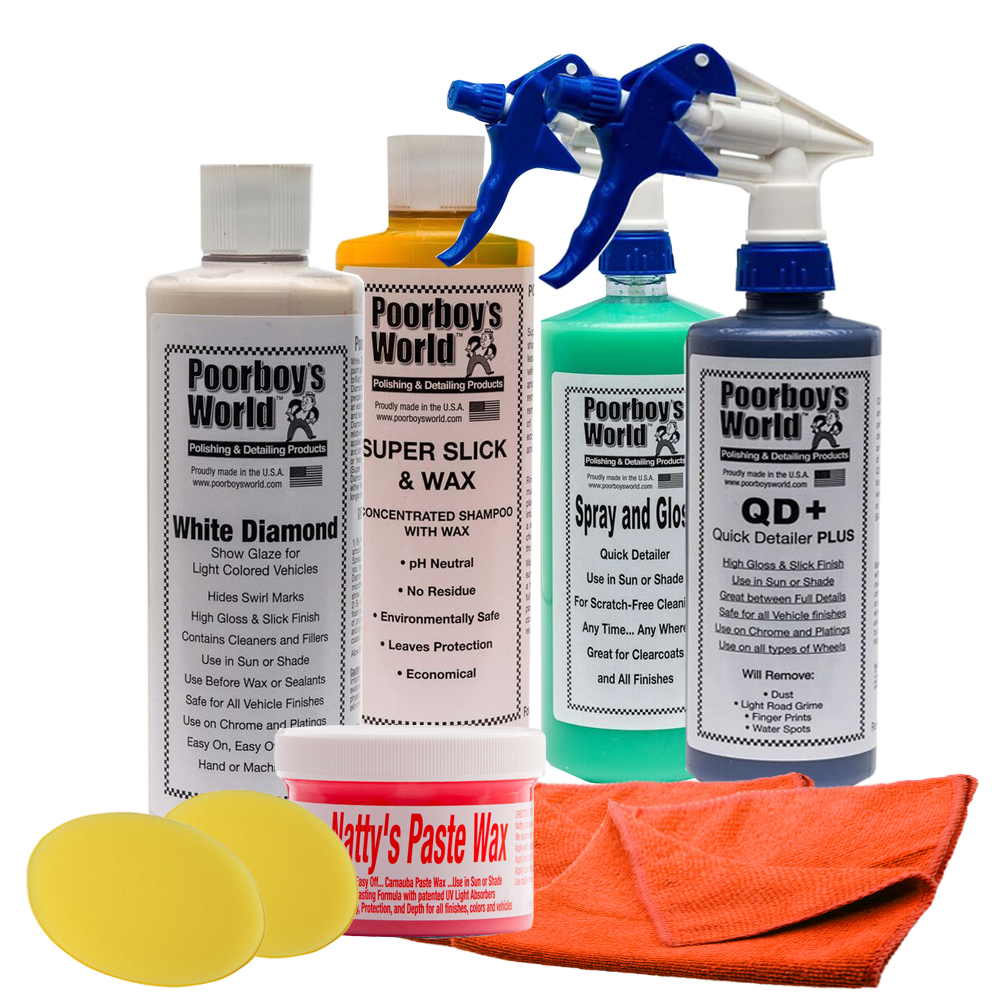 Poorboys White Diamond Complete Car Wash Detailing Waxing Package