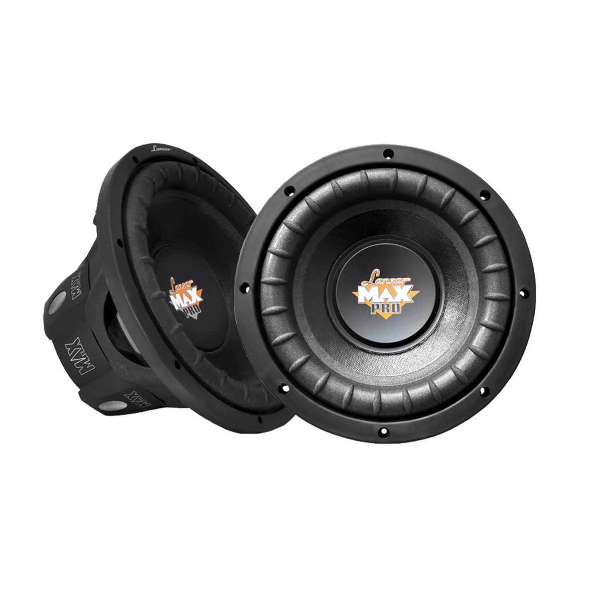 "Lanzar MAXP64 Max Pro 6.5"" 1200w Small Enclosure 4 Ohm Subwoofers Pair"