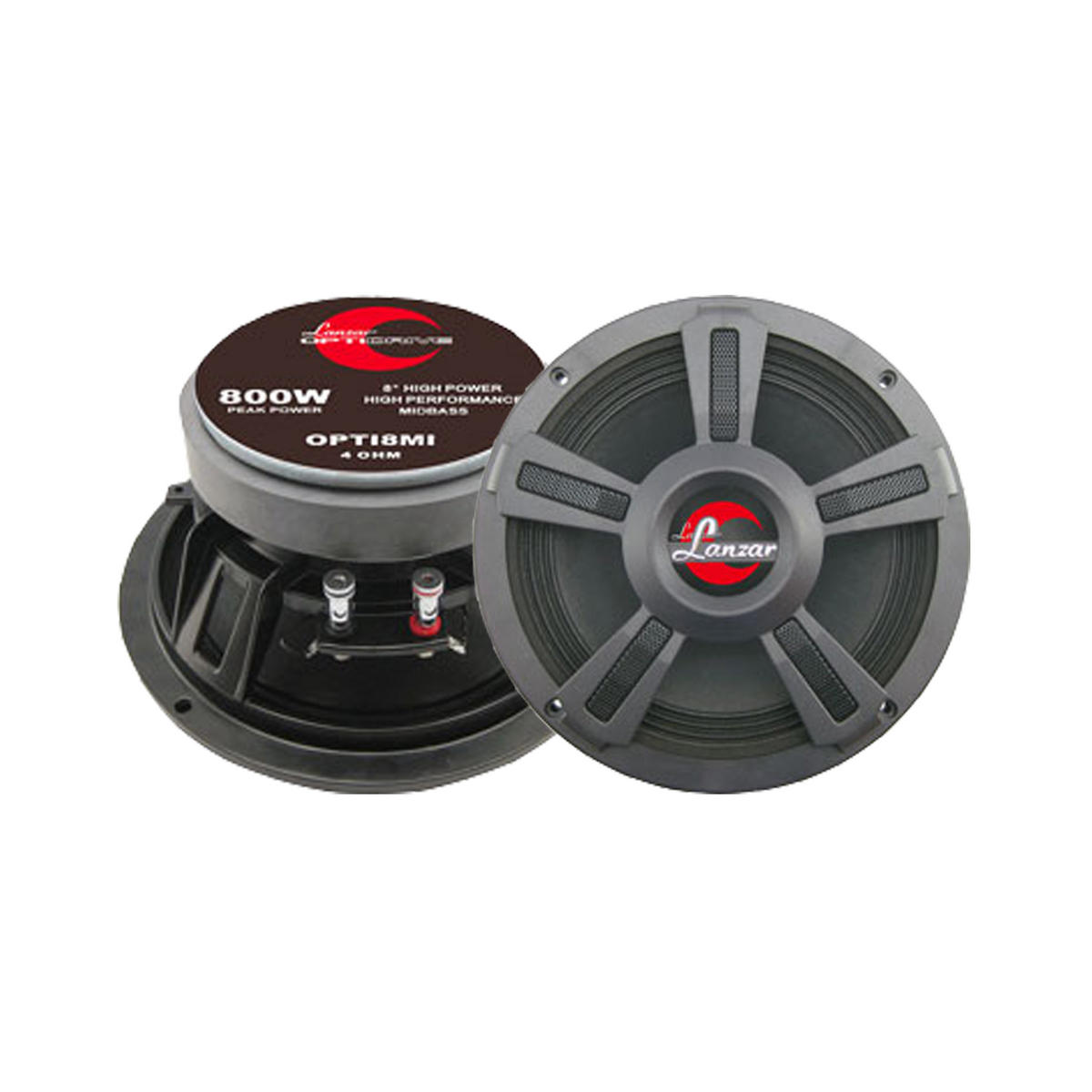 "Lanzar Opti Pro Mid Bass Driver 8"" 4 Ohm 1600w In Car Audio Subwoofers Sub Woofers"