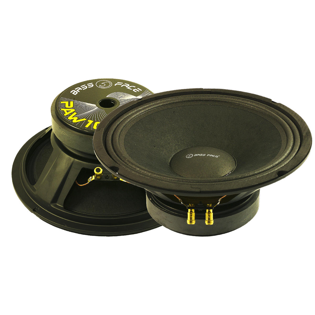 "Bassface PAW10.1 800w 10"" 26cm 8Ohm Midrange Midbass Drivers SQ Speakers Pair"