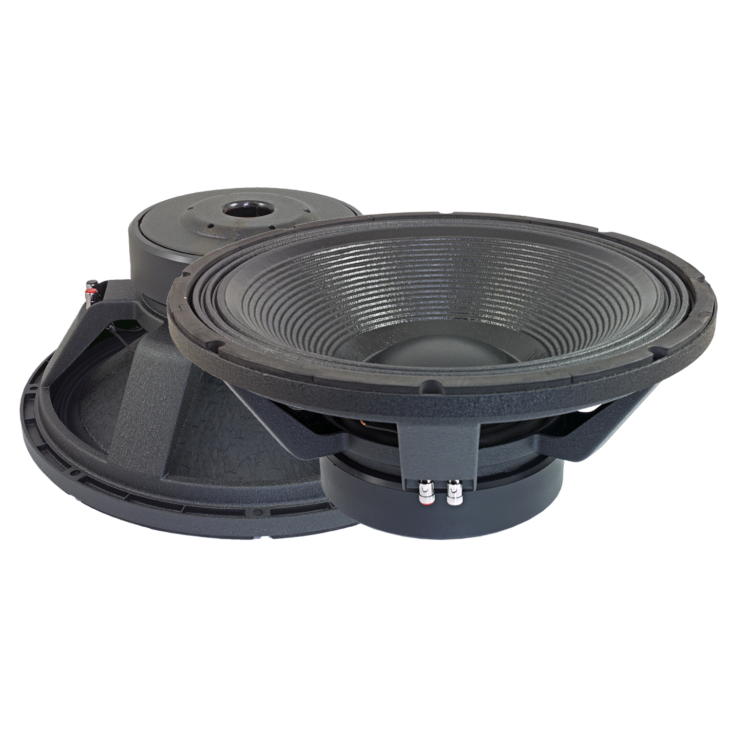 "Bassface PAW18.1 3200w 18"" 46cm 4Ohm Mid Woofers Bass Drivers SQ Speakers Pair"