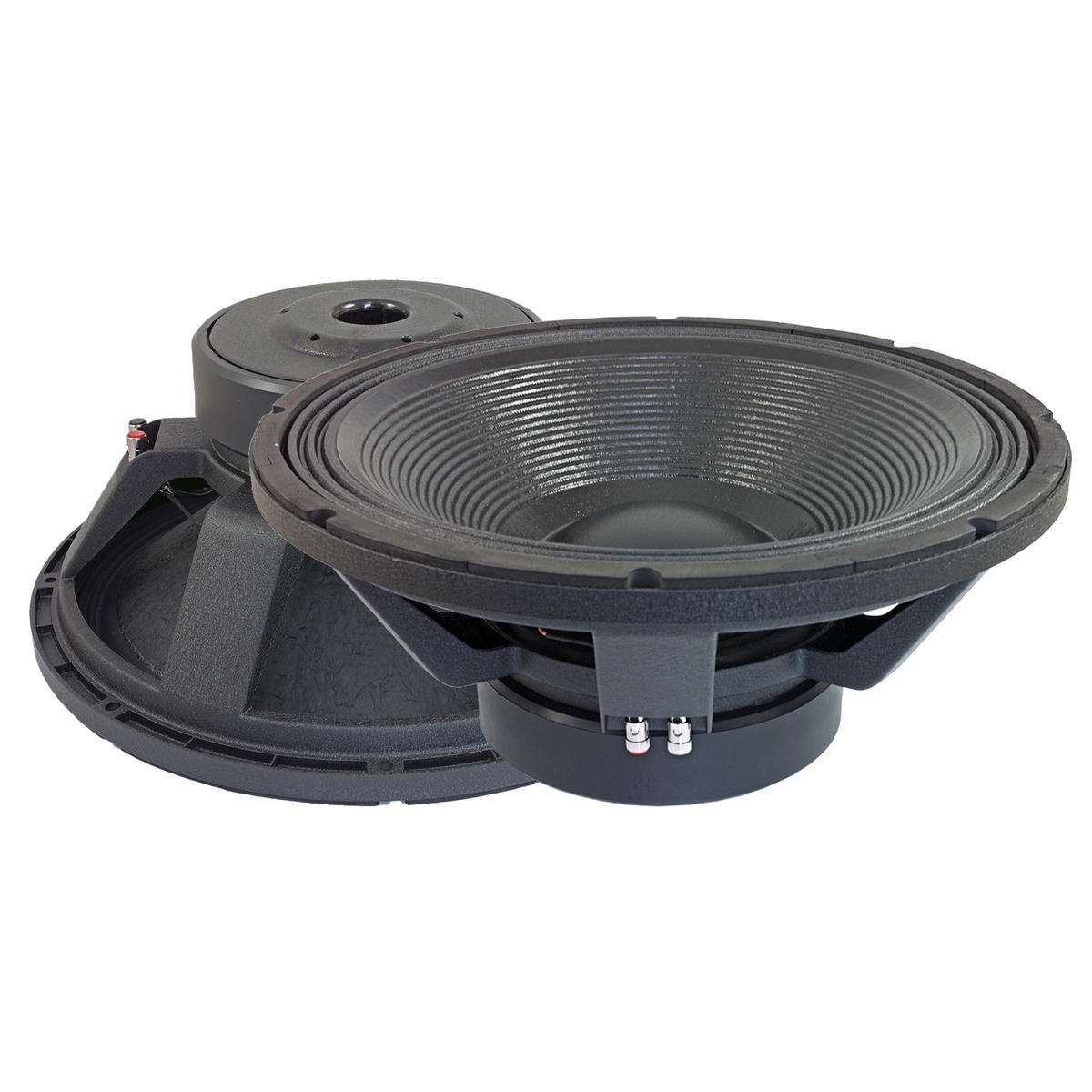 "Bassface PAW18.2 4000w 18"" 46cm 4Ohm Mid Woofers Bass Drivers SQ Speakers Pair"
