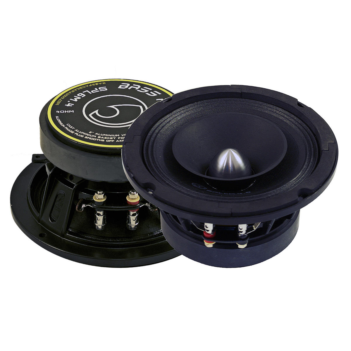"""Bassface SPL6M.4 6.5"""" 16.5cm 600w 4Ohm Midbass Drivers Car Speakers SQ SPL Pair"""