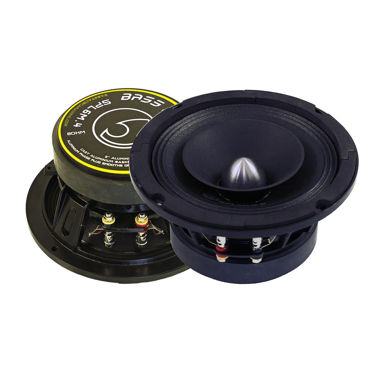 """Bassface SPL6M.4 6.5"""" 16.5cm 600w 8Ohm Midbass Drivers Car Speakers SQ SPL Pair"""