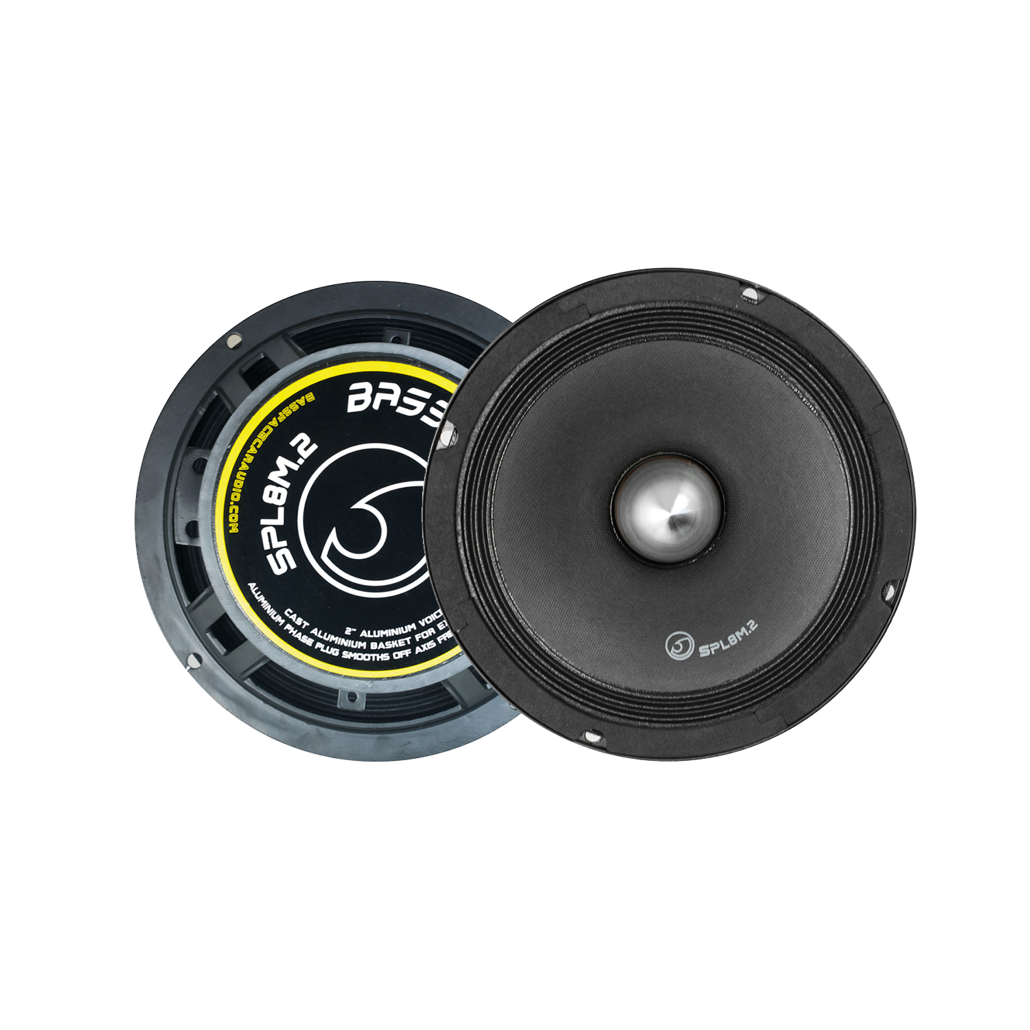 "Bassface SPL8M.2 8"" 20cm 1000W 4Ohm Midrange Midbass Drivers SPL Speakers Pair"