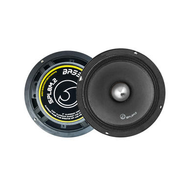 "Bassface SPL8M.2 8"" 20cm 1000W 4Ohm Midrange Midbass Drivers SPL Speakers Pair Thumbnail 1"