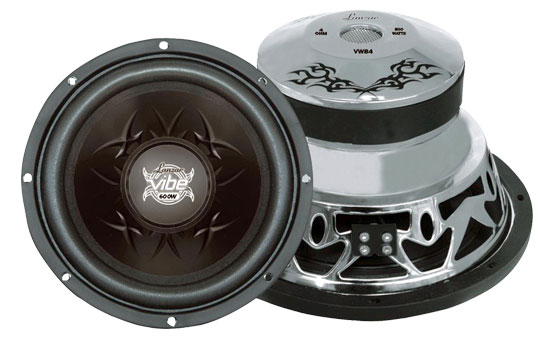 """Lanzar Black Mid Bass Drivers 8"""" 4 Ohm 1600w In Car Audio Subwoofers Sub Woofers Thumbnail 1"""