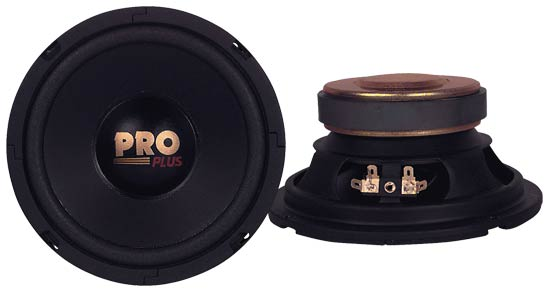 "Pyramid W64 6.5"" 400w 4Ohm Car Speakers MidWoofers Paper Midbass Drivers"