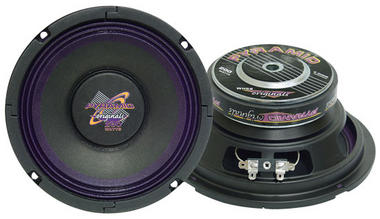 Pyramid WH68 6'' 400 Watt High Power Paper Cone 8 Ohm Subwoofers Thumbnail 1