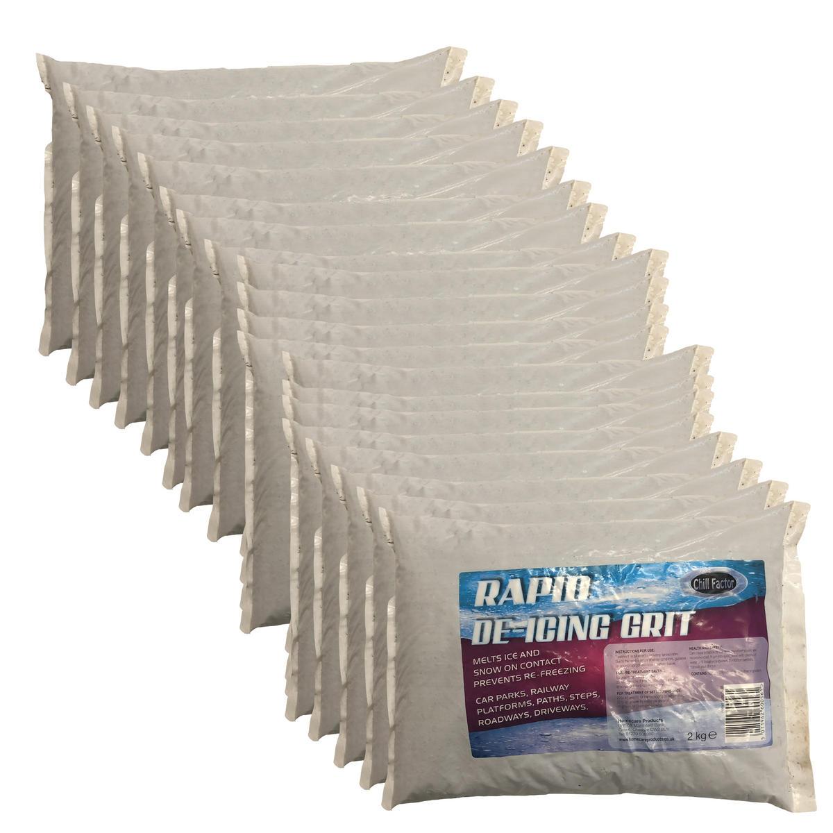 Chill Factor 40KG Rapid Snow Ice De icing Salt Grit Instant Grip