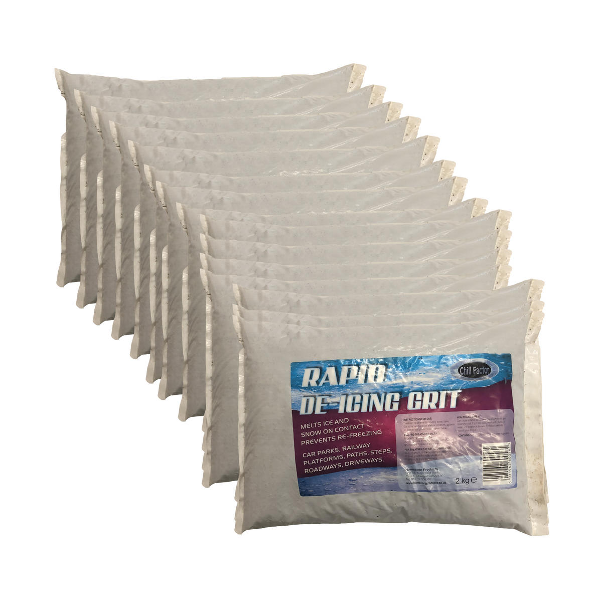 Chill Factor 30KG Rapid Snow Ice De icing Salt Grit Instant Grip