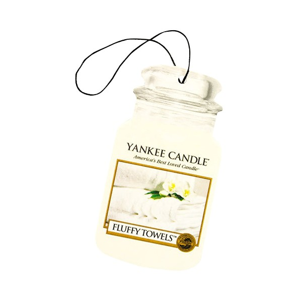 Yankee Candle Classic Car Jar Air Freshener Fluffy Towels Thumbnail 2