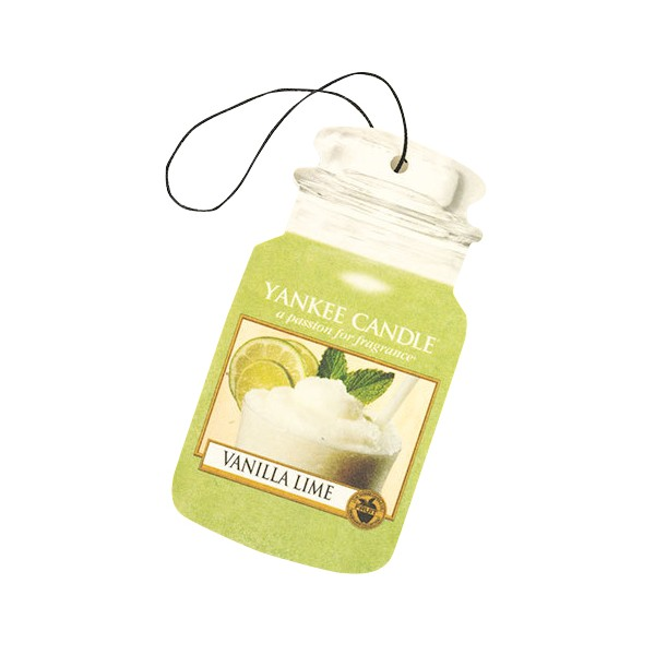 Yankee Candle Classic Car Jar Air Freshener Vanilla Lime Thumbnail 2