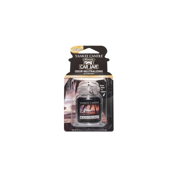 Yankee Candle Ultimate Car Jar Air Freshener Black Coconut Thumbnail 2