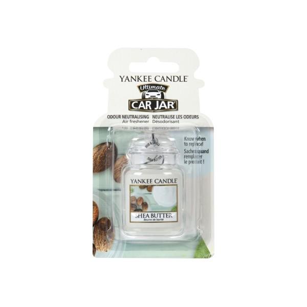 Yankee Candle Ultimate Car Jar Air Freshener Shea Butter Thumbnail 2