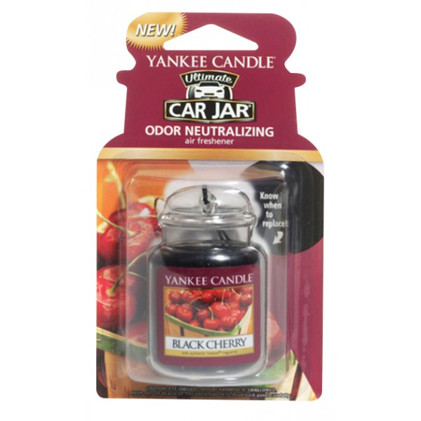 Yankee Candle Ultimate Car Jar Air Freshener Black Cherry Thumbnail 2