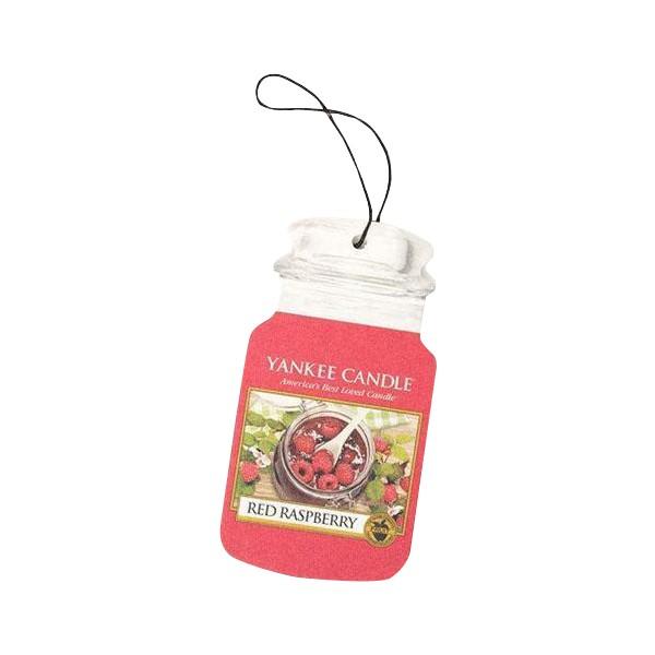 Yankee Candle Classic Car Jar Air Freshener Red Raspberry Thumbnail 2