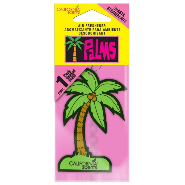 California Scents Palms Air Freshener Shasta Strawberry Thumbnail 2