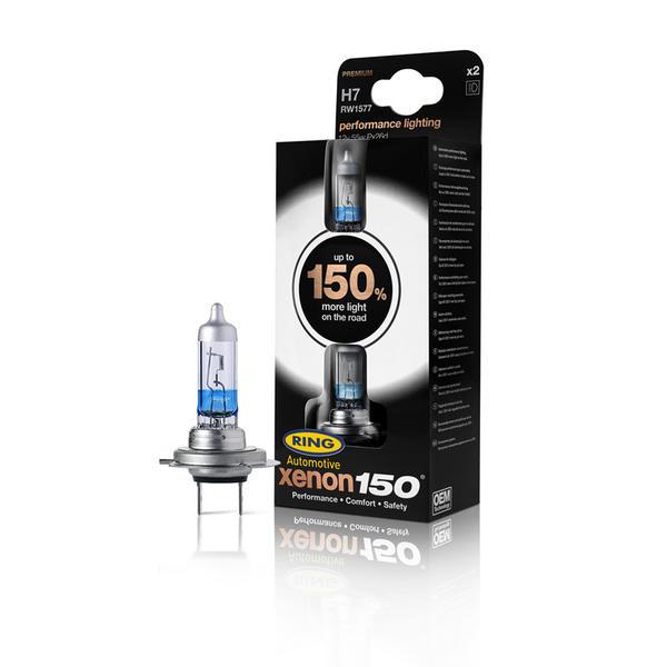 Ring Automotive RW1577 Xenon150 12V 55W H7 Performance Halogen Headlamp Pair Thumbnail 2