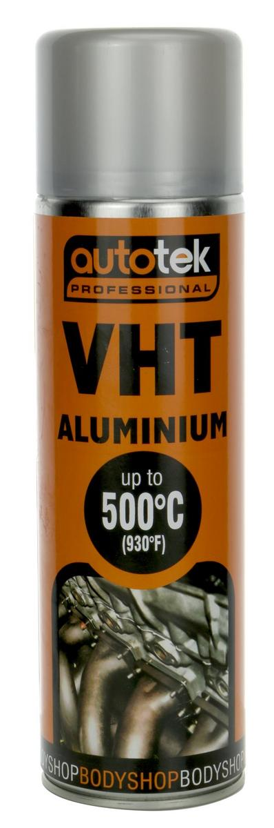 Autotek AT0VHTA500 VHT Very High Temperature Matt Aluminium Paint 500ml Single