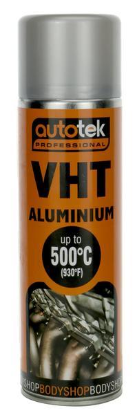 Autotek AT0VHTA500 VHT Very High Temperature Matt Aluminium Paint 500ml Single Thumbnail 1