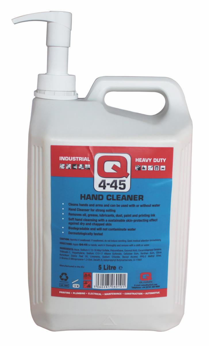 Q Oil Industrial Automotive Q4-45 Antiseptic Hand Cleaner 5L Litre Single