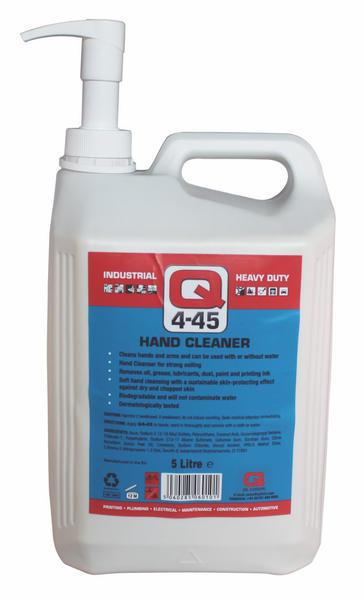Q Oil Industrial Automotive Q4-45 Antiseptic Hand Cleaner 5L Litre Single Thumbnail 1