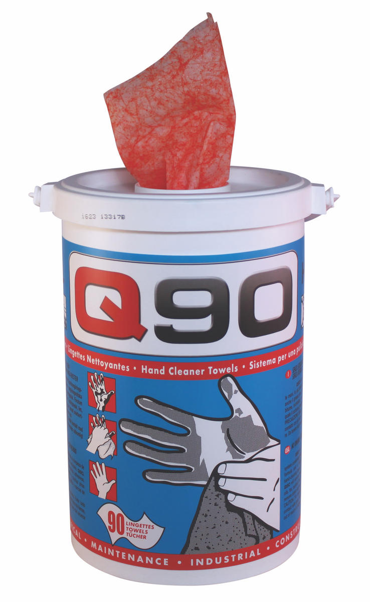 Q Oil Q90/S Industrial Automotive Q90 Solvent Hand Wipes Single