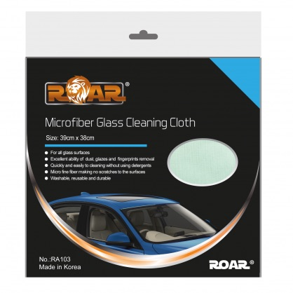 Roar ROARRA103 Car Cleaning Detailing Glass Cleaning Cloth Thumbnail 1