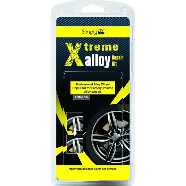 Simply Xtreme Alloy Wheels Repair Kit Kerb Damaged Scuffs & Scrapes - Anthracite